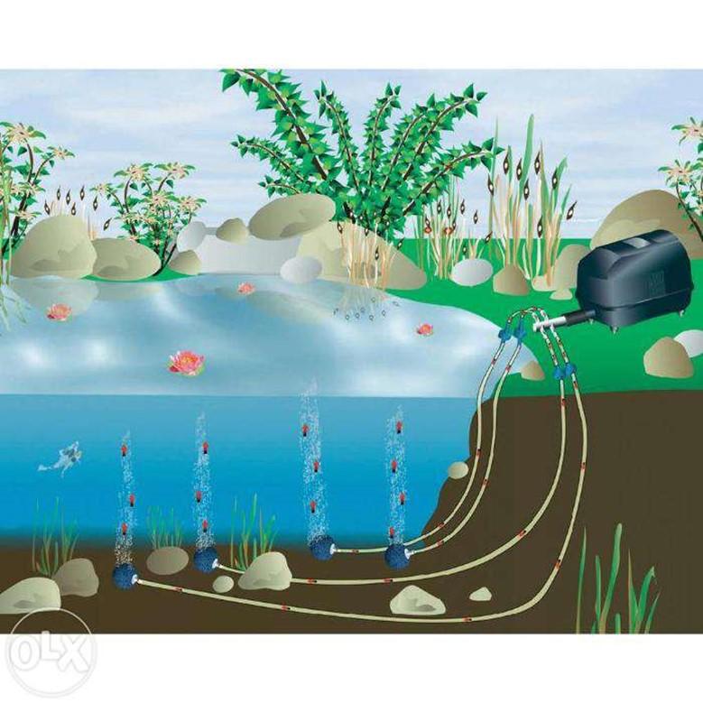 компрессор для загородного пруда или рыбхоза